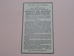 DP Gustaaf DE MUNCK ( H.H. Kanunnik ) St. Niklaas 16 Oogst 1879 - St. Martens Latem 15 Mei 1936 ! - Todesanzeige