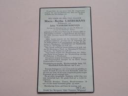 DP Maria-Bertha LAEREMANS ( Jules Vankerckhoven ) St. Martinus Thielt 26 Jan 1890 - Kelfs-Herent 20 Feb 1935 ! - Décès