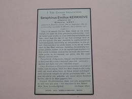 DP Seraphinus Emilius KERKHOVE ( Sidonie LEZY ) Beveren A/ Leie 24 Aug 1864 - Marcke 2 Okt 1935 ! - Todesanzeige