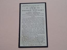 DP Eugenie GOVAERT ( Prosper BREWAEYS ) Oombergen 23 Maart 1860 - Zottegem 20 Juli 1934 ( Zie Foto's ) ! - Todesanzeige