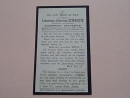 DP Franciscus-Ludovicus STEENKISTE ( Clementia Deconinck ) Steene 15 Feb 1856 - Oostende 25 Sept 1933 ! - Todesanzeige