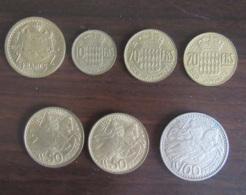 Monaco - 7 Monnaies 2 Francs à 100 Francs - 1945 à 1960 - TTB à SUP - Monaco