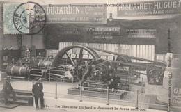 CPA:MACHINE DUJARDIN DONNANT LA FORCE MOTRICE (59).ÉCRITE - France