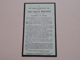 DP Irma-Ludovica MOULAERT ( Honoré De GRYSE ) Sysseele 3? Jan 1878 - Brugge 20 Jan 1933 ! - Todesanzeige