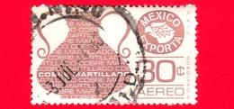 MESSICO - Usato - 1976 - Mexico Exporta - Rame - Cobre Martillado - Copper - 30 C - Posta Aerea - Messico
