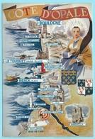 0567 - FRANKRIJK - FRANCE - COTE D'OPALE - MAP - Cartes Géographiques