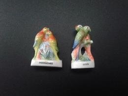 Lot De 2 Fèves : Perruches Et Aras - Animals