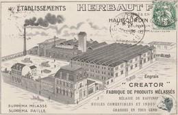 CPA:ÉTABLISSEMENTS HERBAUT HAUBOURDIN ENGRAIS CREATOR FABRIQUE PRODUITS MÉLASSÉS (59) - Other Municipalities