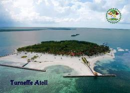 Belize Turneffe Atoll Aerial View New Postcard - Belize