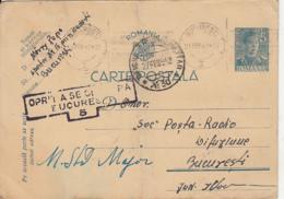 WW2 LETTER, CENSORED BUCHAREST NR 5, POST OFFICE NR 30, KING MICHAEL PC STATIONERY, ENTIER POSTAL, 1942, ROMANIA - Lettres 2ème Guerre Mondiale