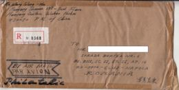 PERSONALITY, SCULPTURE, ARCHITECTURE, STAMPS ON REGISTERED COVER, 1995, CHINA - 1949 - ... Volksrepubliek