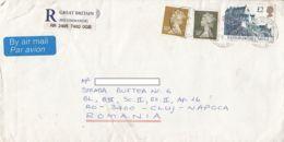 QUEEN ELISABETH II, EDINBURGH CASTLE, STAMPS ON REGISTERED COVER, 1995, UK - 1952-.... (Elizabeth II)