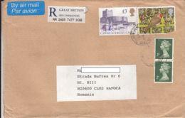 QUEEN ELISABETH II, CARRICKFERGUS CASTLE, BIRD, STAMPS ON REGISTERED COVER, 1995, UK - 1952-.... (Elizabeth II)