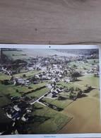 PHOTO AERIENNE VILLE DE BERSILLIES - L'ABBAYE BELGIQUE   39 Cm X 29 Cm - Lieux