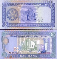 Billet Turkmenistan 5 Manat - Turkménistan