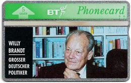 UK - BT - L&G - BTO-013 - Willy Brandt - 271E - 5U, 1992, 10.000ex, Mint - BT Edición Extranjera