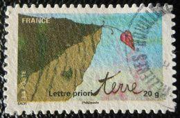 527 France 2011 Oblitéré Autoadhésif  Fête Du Timbre La Terre Feuille En Surplomb - Adhésifs (autocollants)