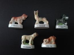Lot De 5 Chiens : Labrador - Shih-tzu - Berger Allemand - Cocker - Schnauzer Nain - Animals