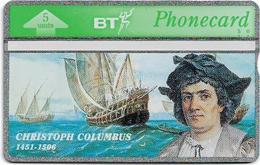 UK - BT - L&G - BTO-035 - Christoph Columbus 1451-1506 - 305G - 5U, 1993, 35.100ex, Mint - BT Edición Extranjera