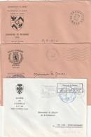 3 Env.des Mairies Du NORD (Cambrai - Anor - Reumont) Avec Leurs Armoiries.   TTB. - Cartas Civiles En Franquicia