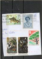 GRANDE- BRETAGNE    5 Timbres  24 P ET 29 P   1990 Et 1993      Sur Fragment Oblitérés - Used Stamps