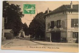 """C. P. A. : 94 SUCY EN BRIE : Place De La Fête, """"Charles CHAIX, Serrurerie"""",  Timbre En 1915 - Sucy En Brie"""
