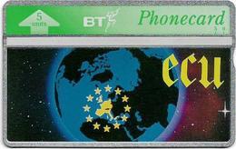 UK - BT - L&G - BTO-038 - ECU, Planet Earth - 306C - 5U, 1993, 5.000ex, Mint - BT Edición Extranjera