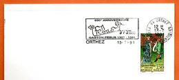 MAURY N° 2707  GASTON FEBUS     ( Flamme Concordante )  64 ORTHEZ    Lettre Entière N° LM 198 - Storia Postale