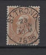 Belgique: 1884/1891. COB N° 51. Oblitéré. Une Dent Courte. - 1884-1891 Léopold II