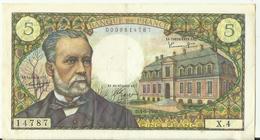 5 Francs Pasteur , 5-5-1966  TTB - 1962-1997 ''Francs''