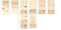 MEXICO - Stationery. 1931-34. Monuments Stationary Cards 1st Group. Selection Of 12 Diff Mint Used, Incl Adtl Franking P - Messico