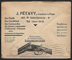 Cheque Cover France,Paris,chèques Postaux.CCP.Postes Telegraphes Et Telephones,gunsmith,guns,rifles,cartridges, - Publicités