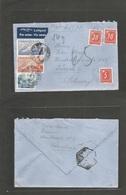 E-ESTADO ESPAÑOL. 1946 (11 Dec) Barcelona - Suiza, Zurich (16 Dec) Sobre Franqueo Mulple Via  + Tasada Multiple A Llegad - España