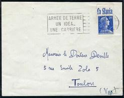 France - Thématique Marianne De Muller - N° 1011B Avec Pub Sur Lettre - Publicité Sur Lettre ( La Slavia ) - - Publicités