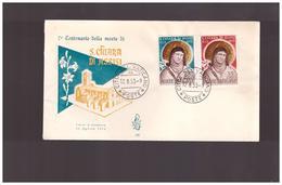 Vaticano Vatikan Vatican  - 12.8.1953 7° Cent Morte S Chiara  Ediz Venetia - FDC