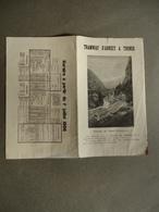 Haute-Savoie  - Dépliant Touristique - Horaires - Tramway D'Annecy à Thones - D'Annecy à Chamonix  - 1906 - - Tourism Brochures