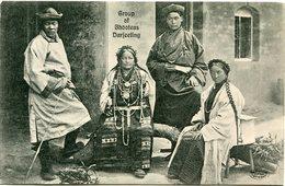 INDE CARTE POSTALE GROUP OF BHOOTEAS DARJEELING - Inde