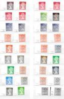 Machin Cylinder Singles - 36 Different - See Scan - 1952-.... (Elisabeth II.)