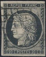 FRANCE - 1849, Yt 3, 20c, Ceres, Oblitére - 1849-1850 Cérès