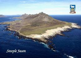 Falklands Islands Steeple Jason Island Aerial View New Postcard Malwinen AK - Falkland