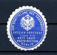 Allemagne  Cinderella Zur Ermittelung Des Absenders  Berlin - Duitsland