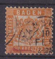 BADE : N° 21 . OBL . AB . 1862/64 .  ( CATALOGUE YVERT ) . - Baden