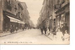 LOIRE  RIVE DE GIER  RUE DE LYON ANIMEE ECRITE - Rive De Gier