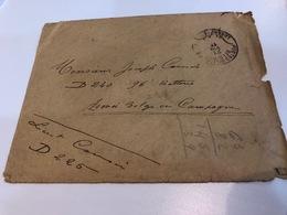 Belgium World War I WWI Letter 1917 To Armee Belge En Campagne J. Cousin SM Legerposterij SM Armee Belge - Armée Belge