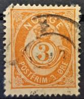 NORWAY 1883 - Canceled - Sc# 38a - 3o - Damage On Upper Left Corner! - Norvège