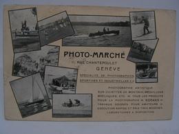 CPA SUISSE PHOTO MARCHE 11 RUE CHANTEPOULET GENEVE CARTE PUBLICITAIRE PHOTOGRAPHE KODAKS 804 - GE Genève