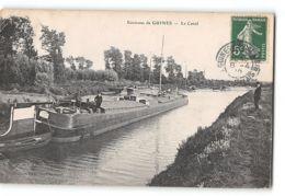 CPA 77 Guignes Le Canal  - Batellerie Peniche - Other Municipalities