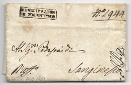 PERIODO NAPOLEONOCO - DA TOLENTINO A SANGINESIO - 12.4.1810. - Italia