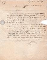 1829 - AGEN - L.A.S. PONS à M. LAFFITEAU, Notaire Royal à MARMANDE - Conseils De Révisions - - Historical Documents