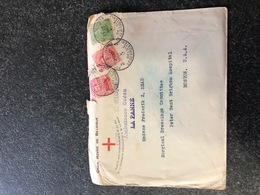 Belgium World War I WWI Letter Red Cross 1917 Letter To Boston Hospital USA Legerposterij SM Armee Belge - RRR La Panne - Army: Belgium